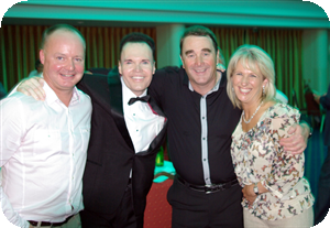 Ian with Nigel, Jo and Andy Crinson